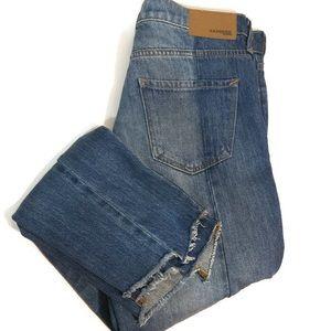 Express Straight leg distress jeans size 0 NWT!